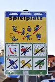 Playground sign — Stock Photo