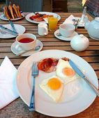 English Breakfast at the hotel — Stock Photo