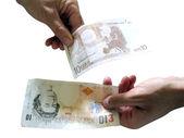 Convert 10 pounds to 10 euro — Stock Photo