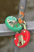 Two steel heavy locks. — Stock Photo
