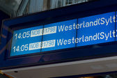 "Display panel showing flights with focus on ""westland"" — Stock Photo"