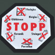 Royalty-Free Stock Photo: Stop sign for waste