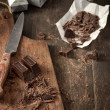 Crush chocolate — Stockfoto