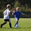 Children play soccer — Stock Photo