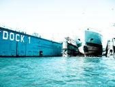 Hamburg free port — Stock Photo