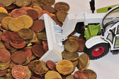 Euro money is transported away — Stock Photo
