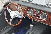 Inside in a retro car — Stock Photo