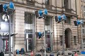 Film production lighting system — Stock Photo