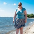 Woman at the elbe — Stock Photo #26660859
