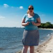 Woman at the elbe — Stock Photo #26660891
