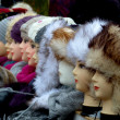 Fur and wool hat — Stock Photo
