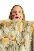 Anti fur animal cruelty — Stock Photo