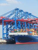 Hamburg port terminal Burchardkai — Stock Photo