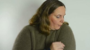 Angora Sweater — Stock Video