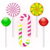Set of candies lollipop — Stock Vector