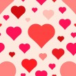 Abstract seamless hearts pattern — Wektor stockowy #40027357