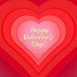 Valentine day heart greeting card template — Stock Vector #40028423
