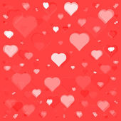 Flying hearts seamless pattern — Stockvector