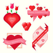 Set of valentine's day banners — Stock Vector
