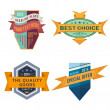 Set of vector logo retro ribbon labels and vintage style shield banners — Stock Vector #45739795