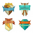 Set of vector logo retro ribbon labels and vintage style shield banners — Stock Vector #45740149