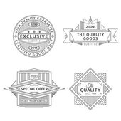 Collection of retro outline vintage style labels and banners — Stock Vector