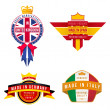 Set of made in united kingdom germany spain italy badges — Stock Vector #50203255