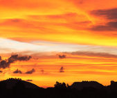 Nuvens à noite — Fotografia Stock