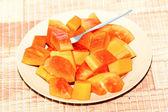 Reife papaya — Stockfoto