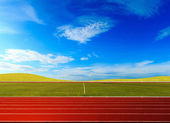 Running track  in the morning. — Stock Photo
