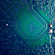Circuit board close up — Stock Photo