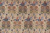 Tela seda china vintage con un patrón floral — Foto de Stock