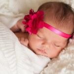 Portrait of a Beautiful Newborn Baby Girl — Stock Photo