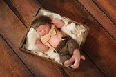 Newborn Baby Boy in Little Man Suit — Stock Photo
