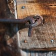 Grungy, Rusty Hook and Eye Latch — Stock Photo #31653437
