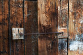Barn Wood Doors Latched Shut — Stock Photo
