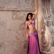Belly Dancer in Pink Costume — Stock Photo
