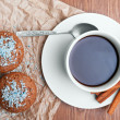Coffee and cake — Stock Photo