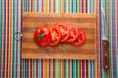 Sliced tomatoes — Stock Photo