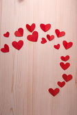 Background of hearts for valentine's day — Stock fotografie