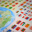 Map with national flag — Stock Photo
