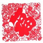 Постер, плакат: Chinese paper cut Jintongyunv Congratulations New Year Fuk Loi