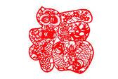 Chinese paper-cut - Fu — Stock Photo