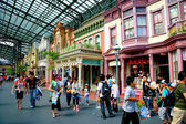 Tokyo Disneyland dynasty era Victorian-style street in the world market — Stock Photo