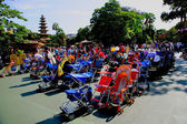 Tokyo Disneyland theme park in the west along the western front of the station parked stroller — Stock Photo