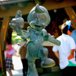 Tokyo Disneyland Pinocchio in small bronze sculpture — Stock Photo #29606315