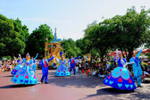 Tokyo Disneyland Dream joyous parade of all kinds of fairy tales and cartoon characters — Foto Stock