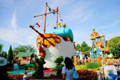 Tokyo Disneyland in Toontown Donald Duck steamboat — Stock Photo