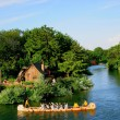 Stock Photo: Tokyo Disneyland in animal park Splash Mountain and Beaver Brothers canoe