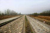 Anhui Dingyuan size gravel road car Proving Ground — Stock Photo